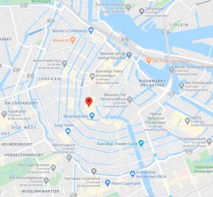 Mapa da Praça Spui