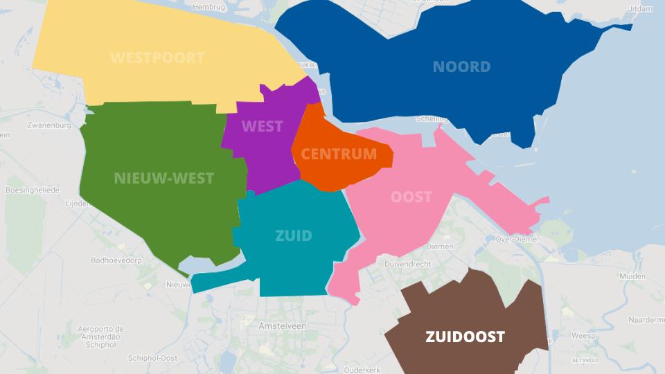 Mapa de Zuidoost