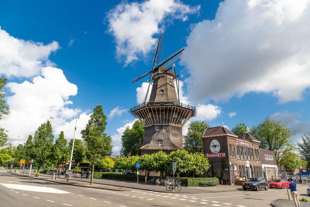 Moinho De Gooyer em Amesterdão