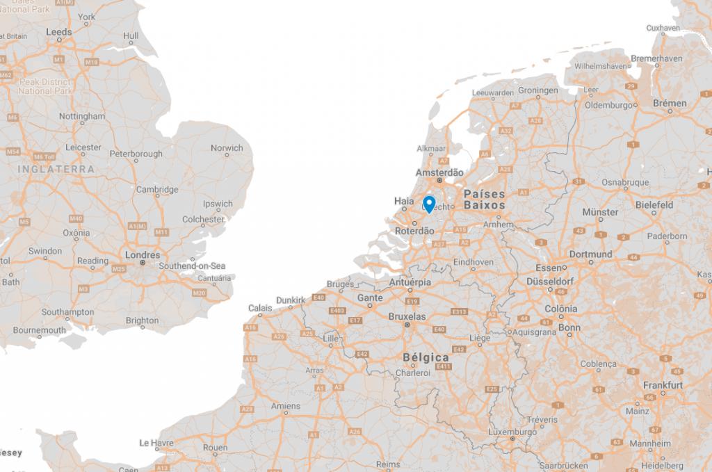 Onde fica Gouda na Holanda