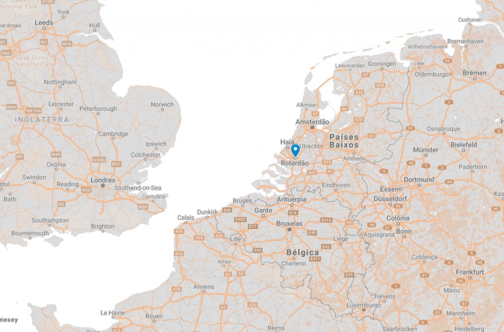 Onde fica Roterdão na Holanda